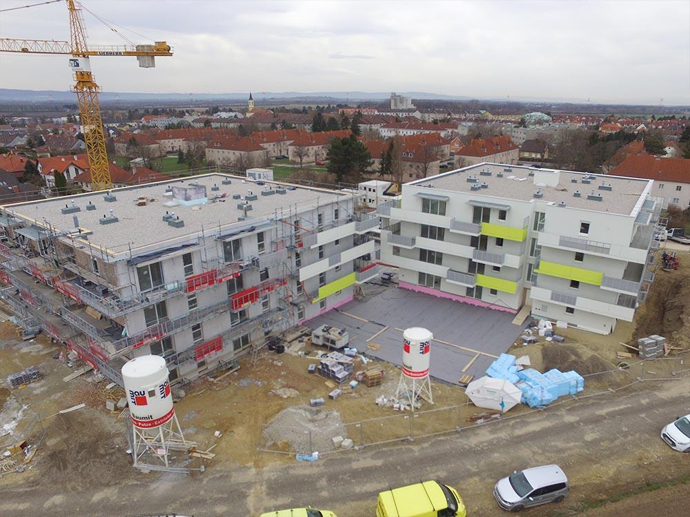 Wohnhausanlage Ebergassing Baufortschritt